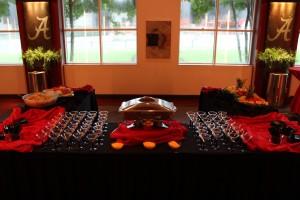 Shrimp and Grits Table Setup
