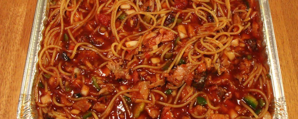 Award Winning BBQ Spaghetti
