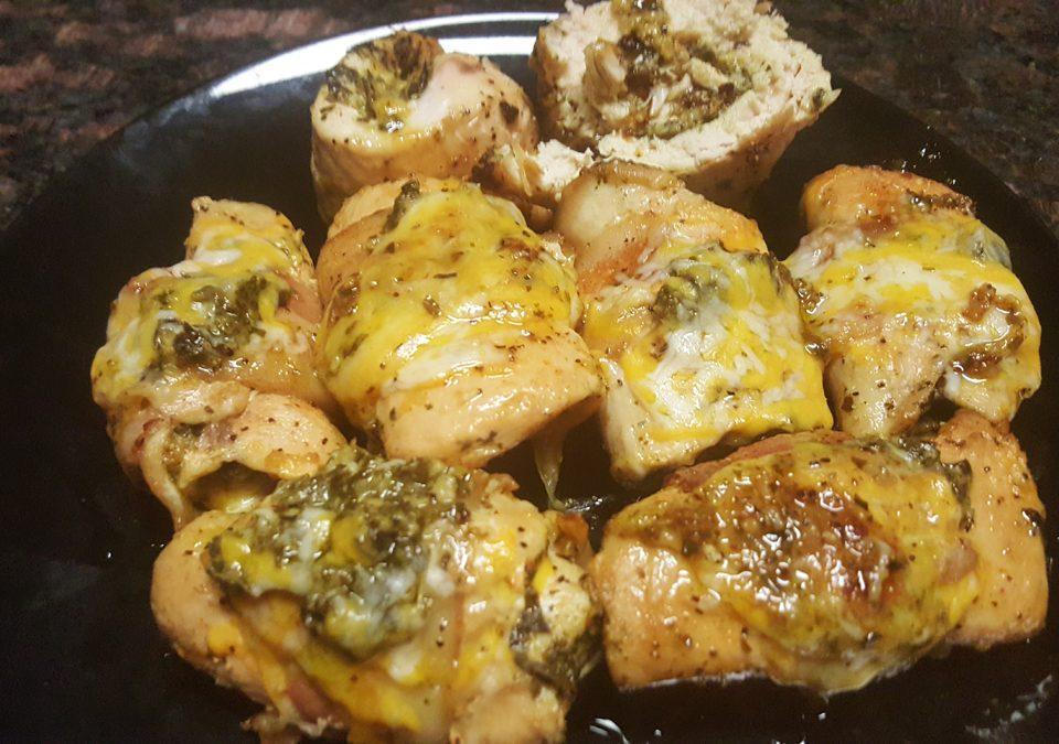 Stuffed Pesto Basil Chicken
