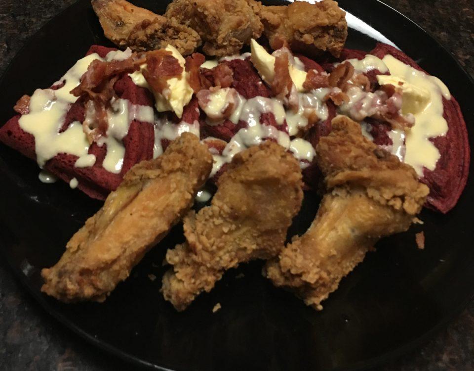 Red Velvet Chicken and Waffles